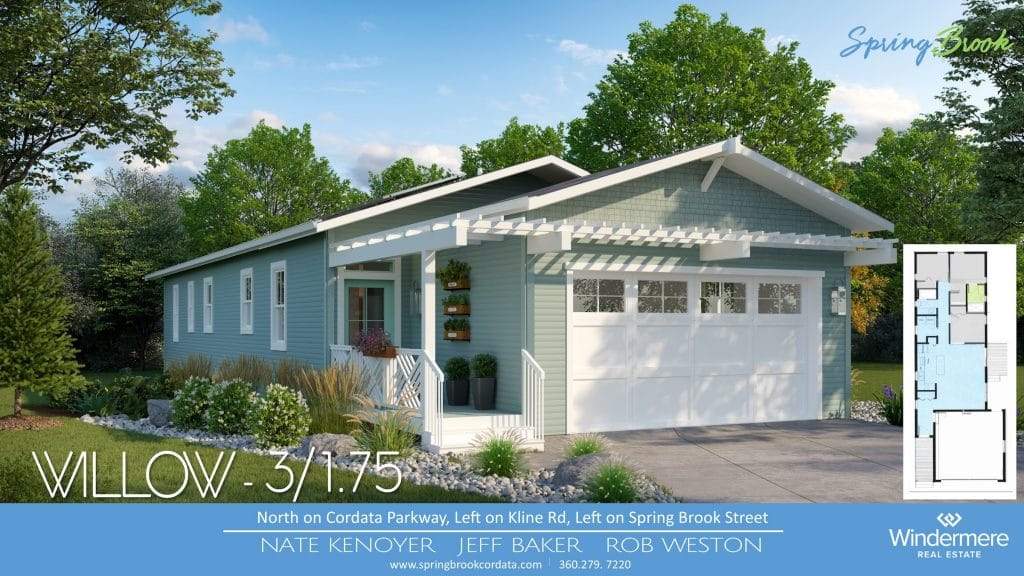 The Willow Springbrook Bungalows 3 bedroom 1.75 Bath