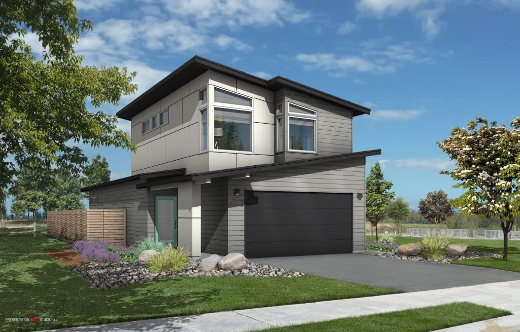 New 2-story home in Bellingham, WA.