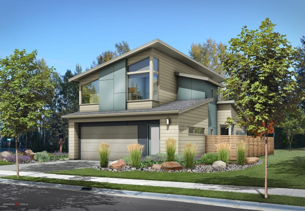 New 2-story solar-powered home in Bellingham, WA.